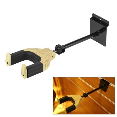 エレクトリックアコースティックギターベース弦楽器のための調節可能なギターハンガーフックホルダーキーパーオートグリップシステムスラットウォールメタルベース