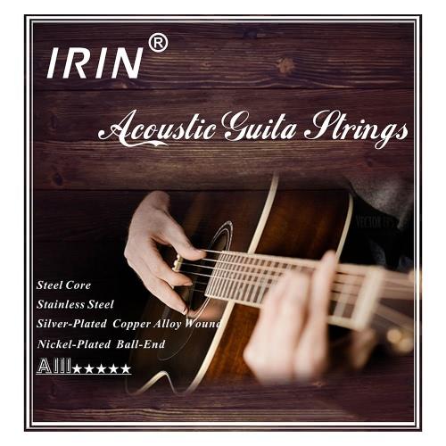 Folk Acoustic Guitar Strings zapasowe pełny zestaw 6szt (0,012-.053) Stalowy rdzeń posrebrzanych Stop miedzi Wound z niklowanej End Ball średnich Tension