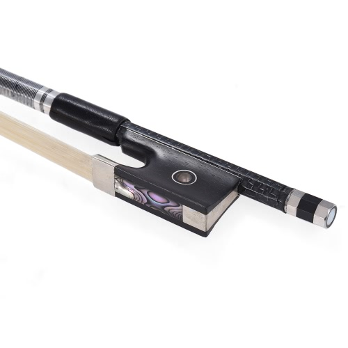 Well Balanced Braided Carbon Fiber 4/4 Violin Fiddle Bow Round Stick Exquisite Horsehair Ebony Frog, TOMTOP  - buy with discount