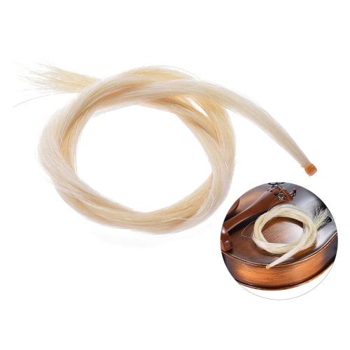 1/4ヴァイオリン弓ナチュラルホワイトカラーのための一つのハンク高品質ボウヘア馬毛