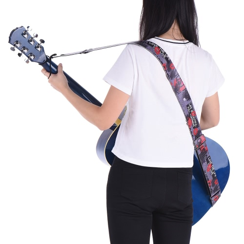 Adjustable Guitar Shoulder Strap PU Leather for Acoustic Folk Classical Electric Guitar Bass