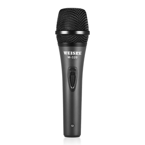 Professional Dynamic Moving-coil Vocal Handheld Microphone Cardioid with 16ft XLR-to-1/4