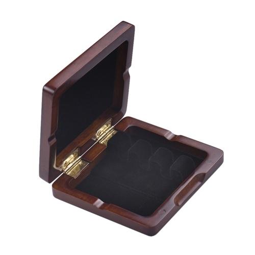 Boîte en bois de Reed de basson de basson de basson sculpté à la main de basson pour les roseaux 3pcs