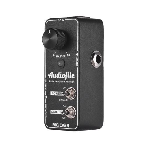 MOOER Audiofile Headphone Amplifier Effect Pedal Built-in Analog Speaker Cabinet Simulation True Bypass Full Metal Shell
