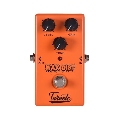 Twinote WAX DIST Pédale d'effet guitare classique distorsion style britannique avec coque en métal et true Bypass