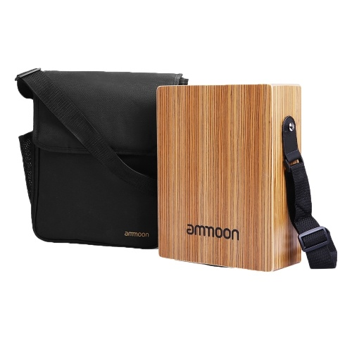 ammoon Portable Travelling Cajon Box Drum