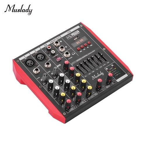 Mixer console portatile di miscelazione 4 canali di Muslady D4