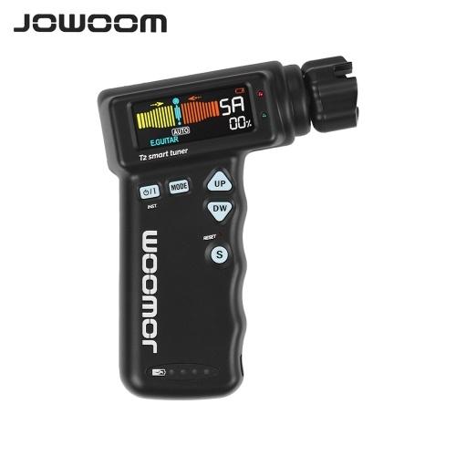 JOWOOM T2多機能スマートギターチューナーペグストリングワインダーギター用ウクレレクロマチックチューニング内蔵充電式リチウム電池