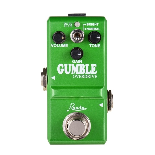 Rowin LN-315 Dumble Pedal Gumble Gitarreneffektpedal Rundes und sanftes Overdrive-Effektpedal für E-Gitarre