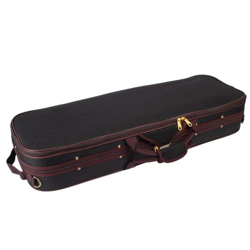 Professional 1/4 Full Size Violin Case Carrying Bag Oblong Shape Hard Case