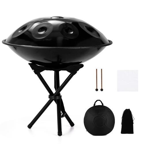 Cadeau d'instrument de musique Handpan de guérison sonore de performance avec sac de tambour