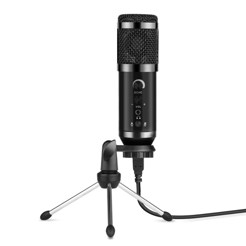 USB Condenser Microphone Wired Cardioid Pickup Pattern Mic