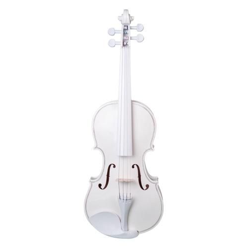 Muslady Полноразмерная акустическая скрипка 4/4 с футляром Bow Bridge для взрослых, студентов и начинающих