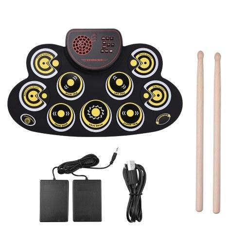 Tragbare elektronische Roll-up-Trommelauflage Silicon Digital Drum
