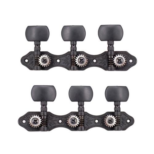 1 Paar 1:18 Schwarze Tuner für klassische Gitarre Maschinenköpfe Stimmschlüssel für klassische Gitarre oder Flamenco-Gitarre