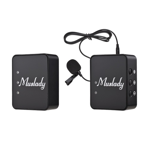 Muslady  Transmitters Receiver Wireless Lavalier Microphone System