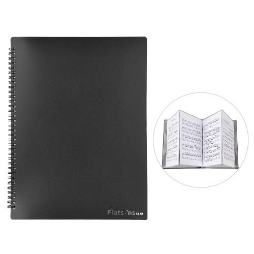 Flatsons FB-04 A4 taille support de partition de musique feuille de papier organisateur de fichiers de documents dossier de papier de musique 40 poches pour joueurs de Piano de violon de guitare