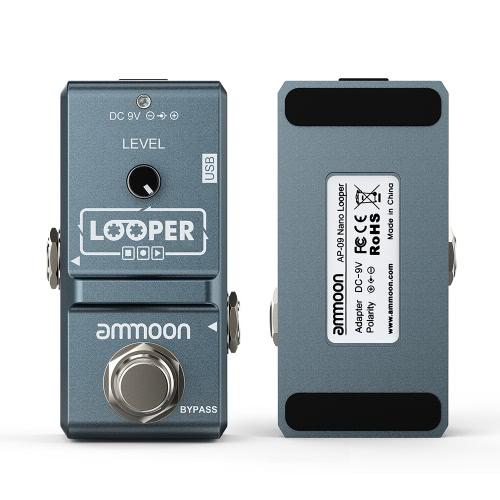 ammoon AP-09ナノシリーズループエレクトリックギターエフェクターペダルルーパーTrue Bypass