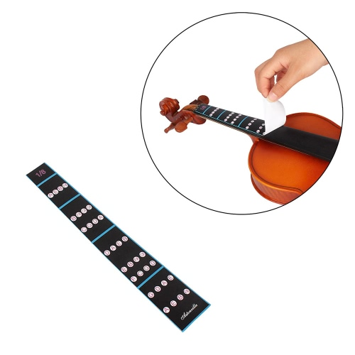 1/8バイオリンフィドル指ガイド指板ステッカーラベルイントネーションチャート初心者のためのフレットボードマーカー