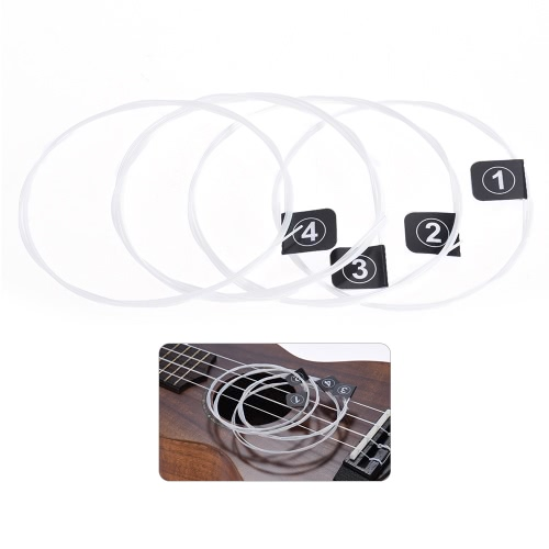 Orphee KX80 Ukelele Strings Full Set 4pcs Replacement (0,024 bis 0,026) Nylon Hard Tension