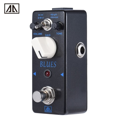 AROMA ABY-5 Classic Blues Style Overdrive Guitar Effect Pedal 2 Modes Aluminum Alloy Body True Bypass