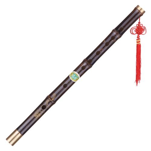 G研究レベルのプロフェッショナルブラック竹Diziフルート伝統的な手作りの中国楽器木管楽器キー