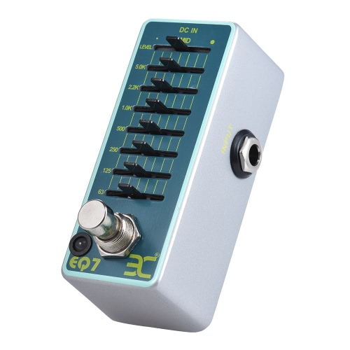 ENO EX EQ7 Gitarren Equalizer Effektpedal 7-Band EQ Vollmetall Shell True Bypass