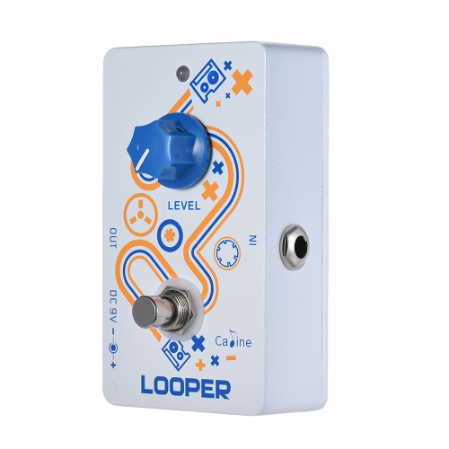 Caline LOOPER Guitar Loop Pedal 10 Minutes Recording Time Unlimited Overdub with True Bypass