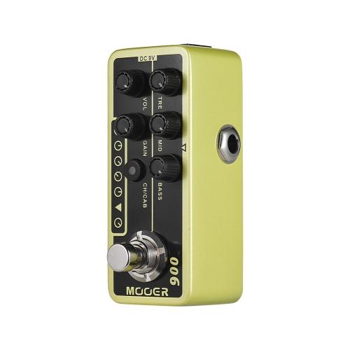 MOOER MICRO PREAMP Serie 006 US Classic Deluxe American Blues Combo Preamplificador de preamplificador digital Pedal de efectos de guitarra True Bypass