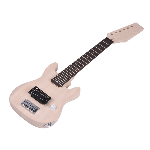 ammoon Children ST Style Unfinished DIY Electric Guitar Kit