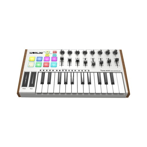 WORLDE TUNA MINI Ultra-Portable 25-klawiszowy kontroler klawiatury USB MIDI
