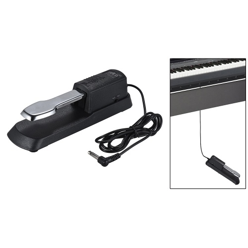 Universal Piano Sustain Pedal Keyboard Foot Damper Pedal with 6.35mm Plug for Casio Yamaha Roland Electronic Organ MIDI Keyboards Digital Pianos