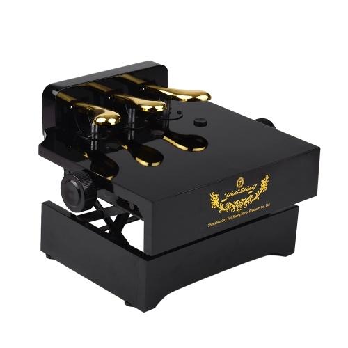 Banco de extensión de pedal de piano negro para niños