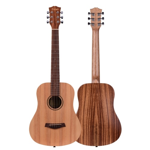 34 Inch Acoustic Guitar Spruce Wood Top Panel Teakwood Back Side Panel