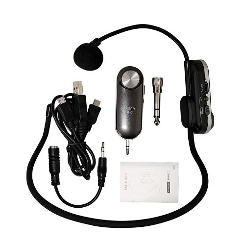 Leichtes tragbares drahtloses Headset-Mikrofon UHF-Mikrofon mit Receiver Box Music Element System
