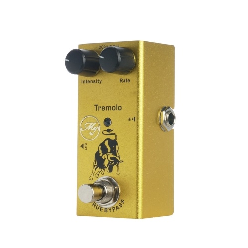 Tremolo Gitarreneffektpedal mit ABS-Bedienknöpfen Mini-Einzelpedal
