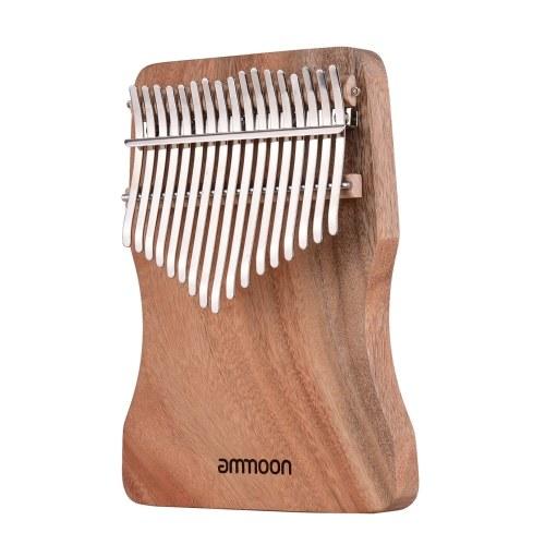 Ammoon Piano de pulgar de 17 teclas Kalimba Camphorwood C Tone