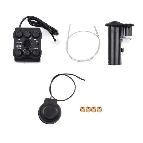 Akustikgitarren-Tonabnehmer Resonanz-Tonabnehmer-Vorverstärkersystem mit LED-Bildschirm
