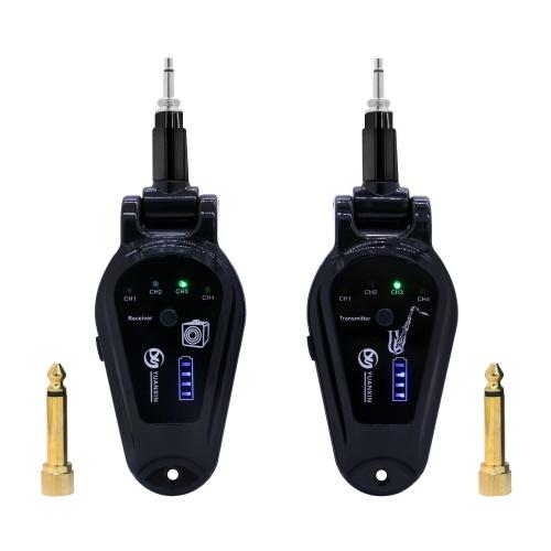 A-10 Wireless Guitar Pickup System E-Gitarren Sender- und Empfängerset Eingebautes Akku-Gitarrensystem