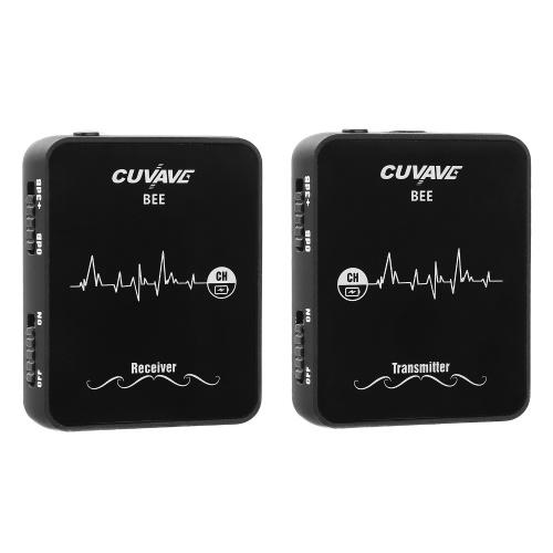 CUVAVE WP-6 Drahtloses Lavalier-Mikrofonsystem mit Sender, Empfänger und aufsteckbarem Mikrofon Omnidirektional, kompakt, tragbar