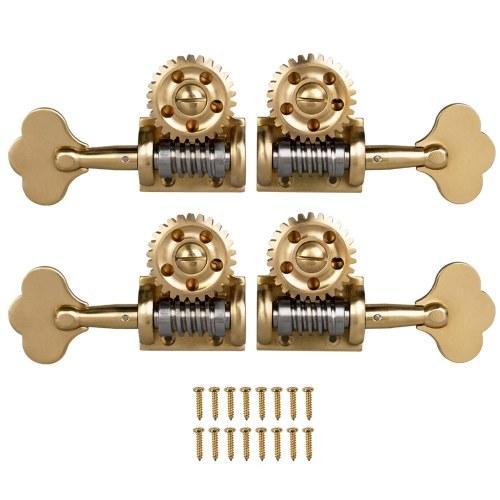 4 pièces Style allemand Double basse simple accordage chevilles tuner têtes de machine 2 gauche 2 droite pour 4/4 3/4 contrebasse