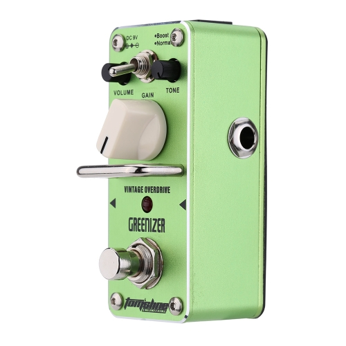AROMA AGR-3 Greenizer Vintage Overdriver Electric Guitar Effect Pedal Mini Single Effect with True Bypass