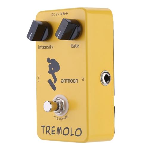 ammoon AP-04 trémolo guitarra efectos Pedal True Bypass