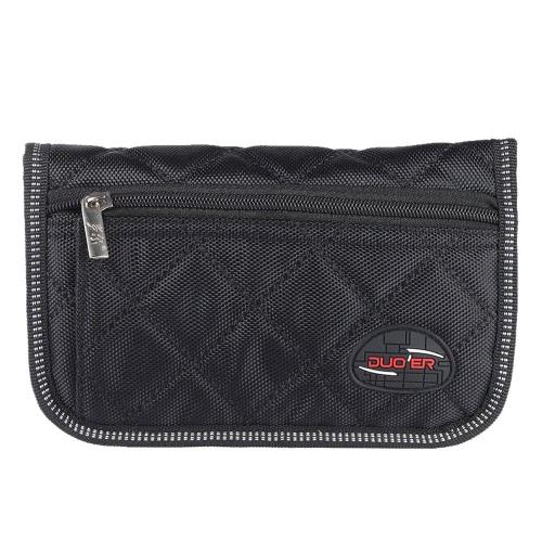 Durable Trombone Euphonium Trumpet Mouthpiece Pouch Bag with 4 Soft Compartments Black