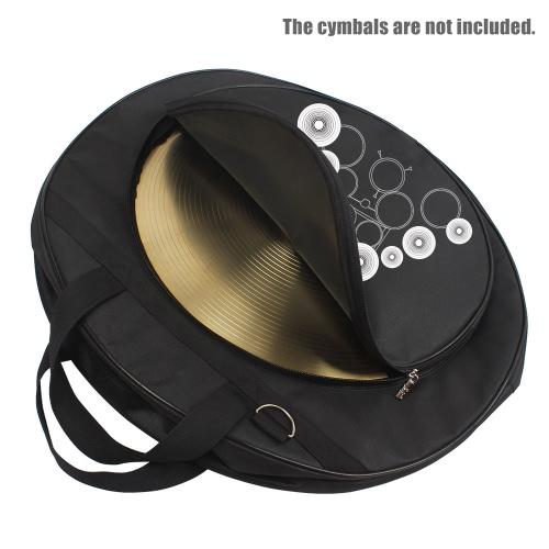 21-Inch tres bolsillos Cymbal Bag Backpack con correa para el hombro extraíble Divisor