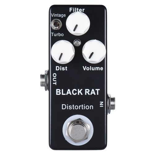 Mini Distortion Guitar Effect Pedal True Bypass Zinc-aluminium Alloy Body