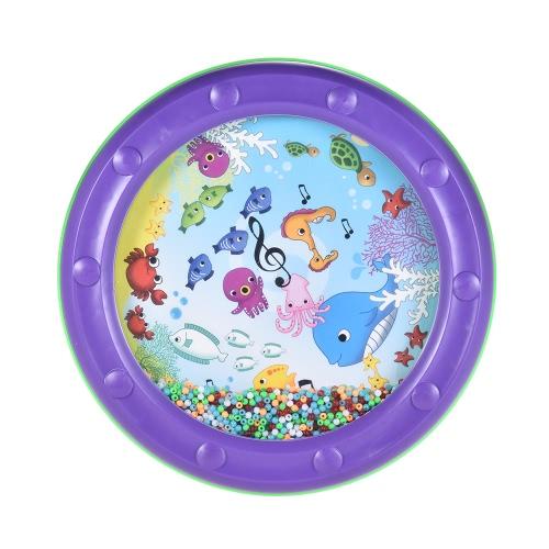 オーシャンウェーブビーズドラム優しい海のサウンドミュージカルティーチング赤ちゃんキッズの子供のための教育玩具を学ぶ