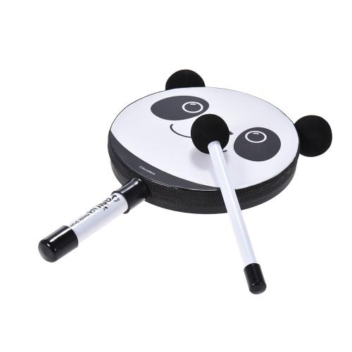 Regalo del giocattolo dello strumento musicale a percussione del tamburo di Panda 6in con il maglione per i bambini dei bambini del bambino