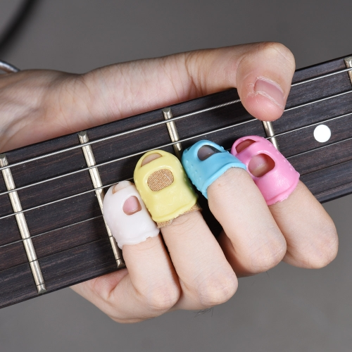 12pcs Guitar Fingertip Protectors Silicone Finger Guards for Ukulele Electric/Acoustic Guitar Bass