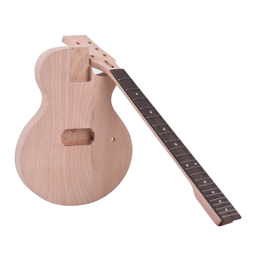 Ammoon Children LP Style Unfinished DIY Kit per chitarra elettrica